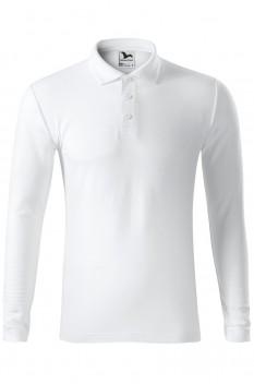 Tricou polo pentru barbati Malfini Pique Long Sleeve, alb