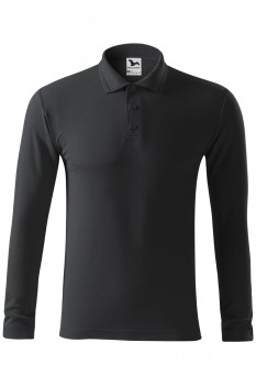 Tricou polo barbati Malfini Pique Long Sleeve, ebony gray