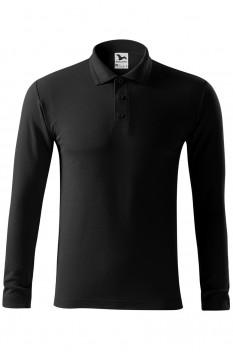 Tricou polo pentru barbati Malfini Pique Long Sleeve, negru