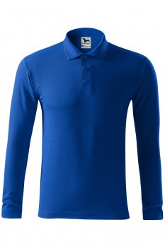 Tricou polo barbati Malfini Pique Long Sleeve, albastru regal