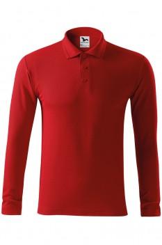 Tricou polo pentru barbati Malfini Pique Long Sleeve, rosu
