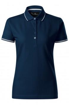 Tricou polo femei Malfini Premium Perfection Plain, albastru marin