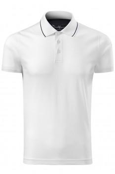 Tricou polo pentru barbati Malfini Premium Grand, alb
