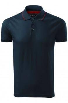 Tricou polo pentru barbati Malfini Premium Grand, albastru marin