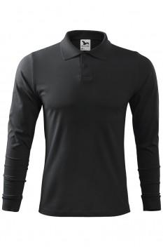 Tricou polo pentru barbati Malfini Single Jersey Long Sleeve, ebony gray