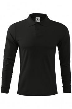 Tricou polo pentru barbati Malfini Single Jersey Long Sleeve, negru