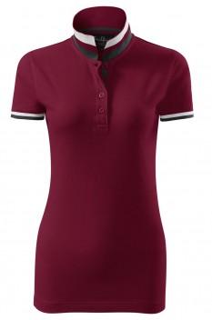 Tricou polo pentru femei Malfini Premium Collar Up, garnet