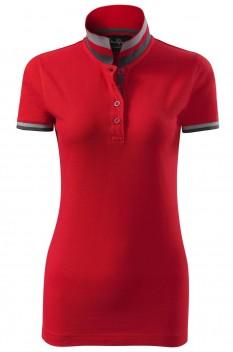 Tricou polo femei, bumbac 100%, Malfini Premium Collar Up, rosu