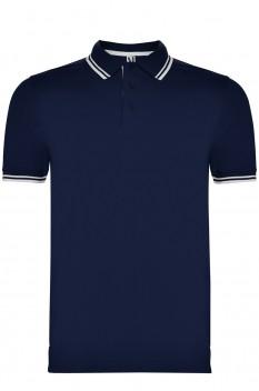 Tricou polo pentru barbati Roly Montreal, bleumarin/alb