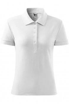 Tricou polo pentru femei Malfini Cotton, alb