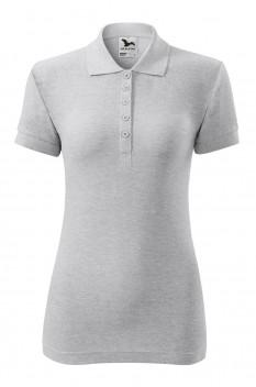 Tricou polo pentru femei Malfini Cotton, gri deschis