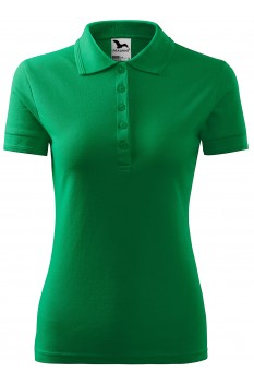 Tricou polo femei Malfini Pique, verde mediu