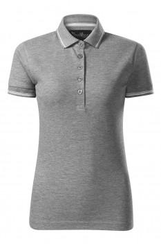 Tricou polo pentru femei Malfini Premium Perfection Plain, gri inchis