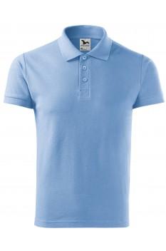 Tricou polo barbati, bumbac 100%, Malfini Cotton Heavy, albastru deschis