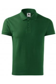 Tricou polo barbati, bumbac 100%, Malfini Cotton Heavy, verde sticla