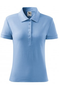 Tricou polo femei, bumbac 100%, Malfini Cotton Heavy, albastru deschis