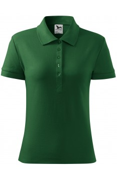 Tricou polo femei, bumbac 100%, Malfini Cotton Heavy, verde sticla
