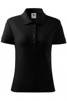 Tricou polo pentru femei Malfini Cotton, negru