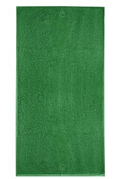 Prosop mare de baie, bumbac 100%, Malfini Terry verde mediu 70 x 140 cm