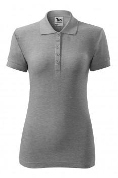 Tricou polo pentru femei Malfini Cotton, gri inchis