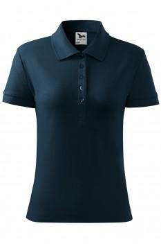 Tricou polo femei, bumbac 100%, Malfini Cotton, albastru marin