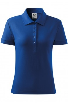 Tricou polo pentru femei Malfini Cotton, albastru regal