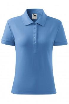 Tricou polo femei, bumbac 100%, Malfini Cotton, albastru deschis