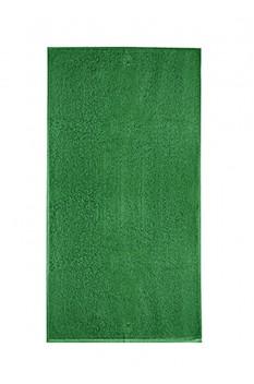 Prosop mediu de baie, bumbac 100%, Malfini Terry verde mediu 50 x 100 cm