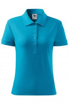 Tricou polo pentru femei Malfini Cotton, turcoaz