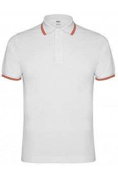 Tricou polo barbati, Roly Nation, alb