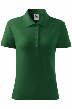 Tricou polo femei, bumbac 100%, Malfini Cotton, verde sticla