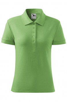 Tricou polo femei, bumbac 100%, Malfini Cotton, verde iarba
