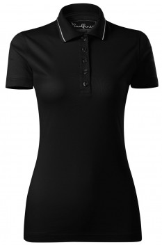 Tricou polo femei, bumbac 100%, Malfini Premium Grand, negru