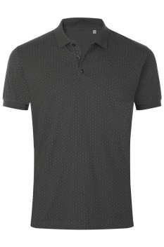 Tricou polo barbati, bumbac 100%, Sol's Brandy Polka-Dot Dark Grey/White