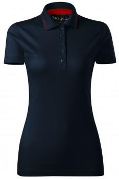 Tricou polo femei, bumbac 100%, Malfini Premium Grand, albastru marin