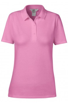 Tricou polo femei, bumbac 100%, Anvil Double Pique, Azalea