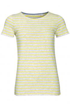 Tricou femei Sol's Miles Striped, ash/lemon