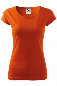 Tricou femei, bumbac 100%, Malfini Pure, portocaliu