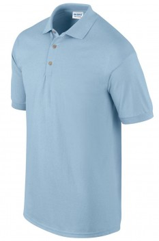 Tricou polo barbati, bumbac 100%, Gildan GI3800, light blue