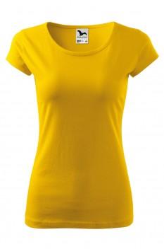 Tricou femei, bumbac 100%, Malfini Pure, galben