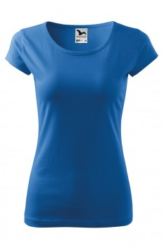 Tricou femei, bumbac 100%, Malfini Pure, albastru azuriu