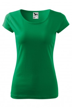 Tricou femei, bumbac 100%, Malfini Pure, verde mediu