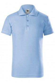 Tricou polo pentru copii Malfini Pique, albastru deschis