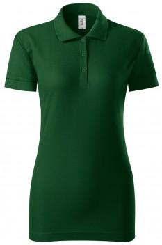 Tricou polo pentru femei Piccolio Joy, verde sticla