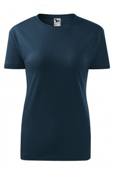 Tricou femei, bumbac 100%, Malfini Classic New, albastru marin