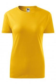 Tricou femei, bumbac 100%, Malfini Classic New, galben