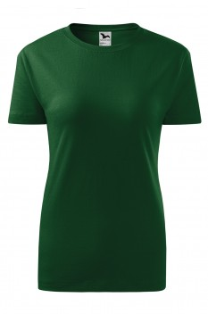 Tricou femei, bumbac 100%, Malfini Classic New, verde sticla