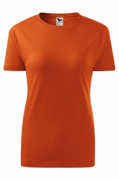 Tricou femei, bumbac 100%, Malfini Classic New, portocaliu