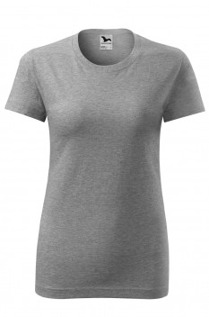 Tricou femei, bumbac 100%, Malfini Classic New, gri inchis