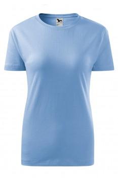Tricou femei, bumbac 100%, Malfini Classic New, albastru deschis